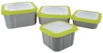 Matrix Grey/Lime Bait Boxes - 2,2pt 1ltr Compact Solid Top