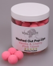 World Baits Washed Out Pop-Ups Vanilla & Cherry Pink 15mm